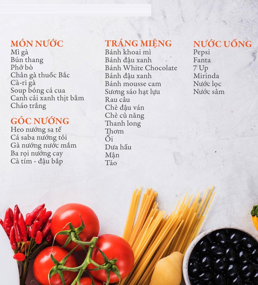 Menu Buffet Đệ Nhất - Hoàng Việt 2