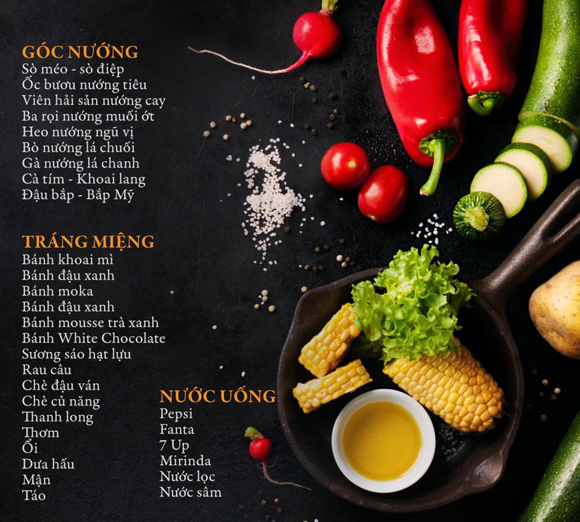 Menu Buffet Đệ Nhất - Hoàng Việt 4