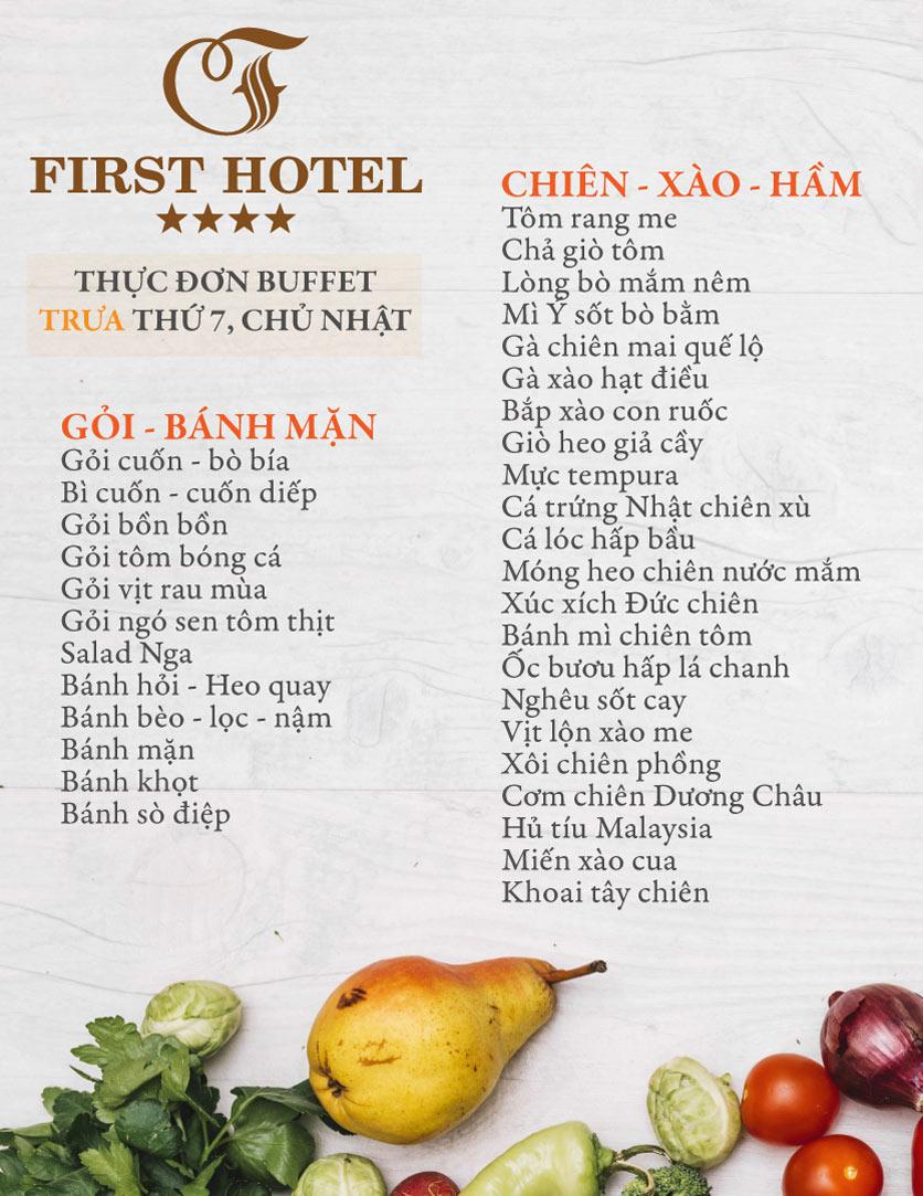 Menu Buffet Đệ Nhất - Hoàng Việt 5