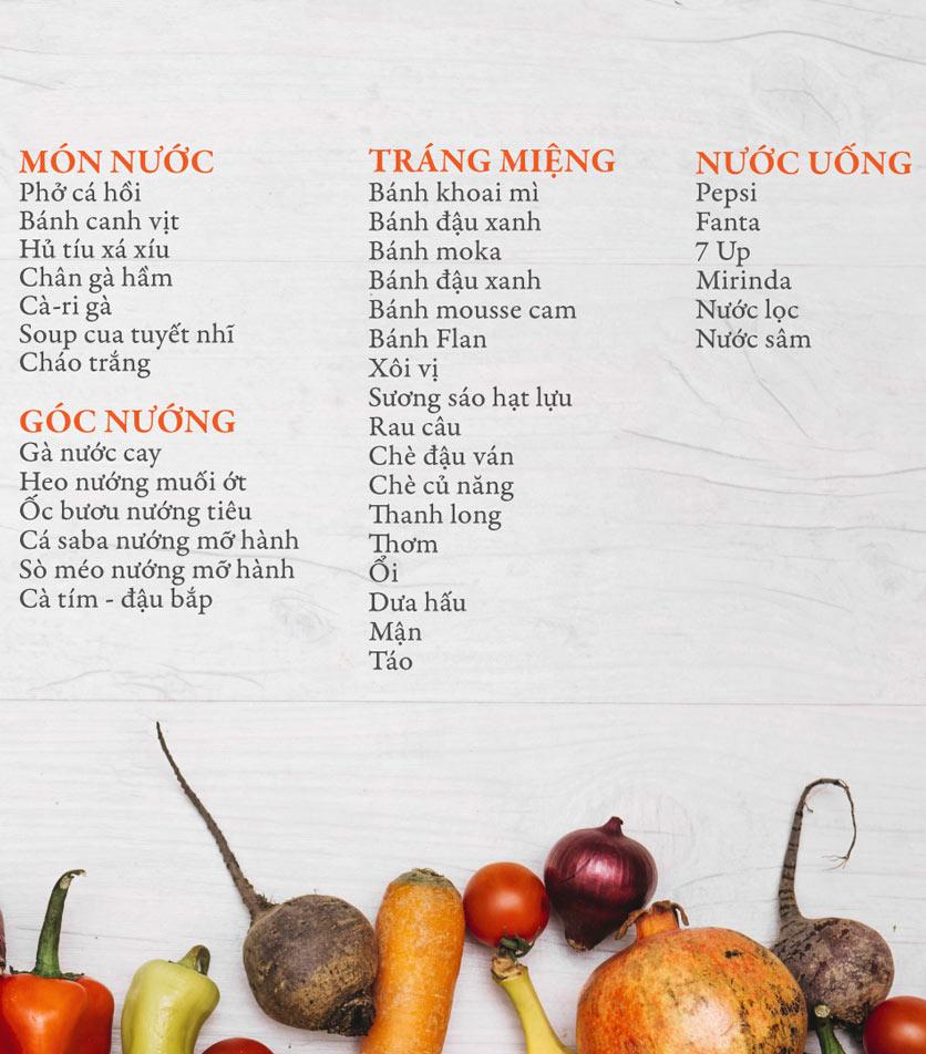 Menu Buffet Đệ Nhất - Hoàng Việt 6