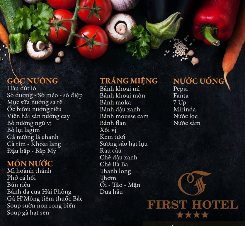 Menu Buffet Đệ Nhất - Hoàng Việt 8