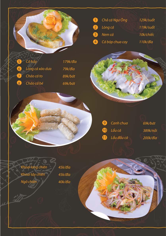 Menu Chả Cá Ngư Ông - Phạm Văn Đồng 1