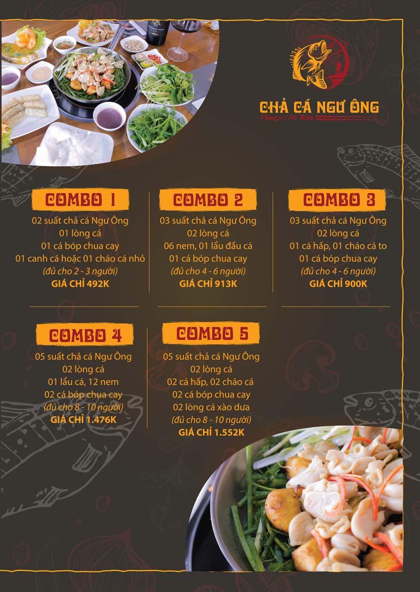 Menu Chả Cá Ngư Ông - Phạm Văn Đồng 2