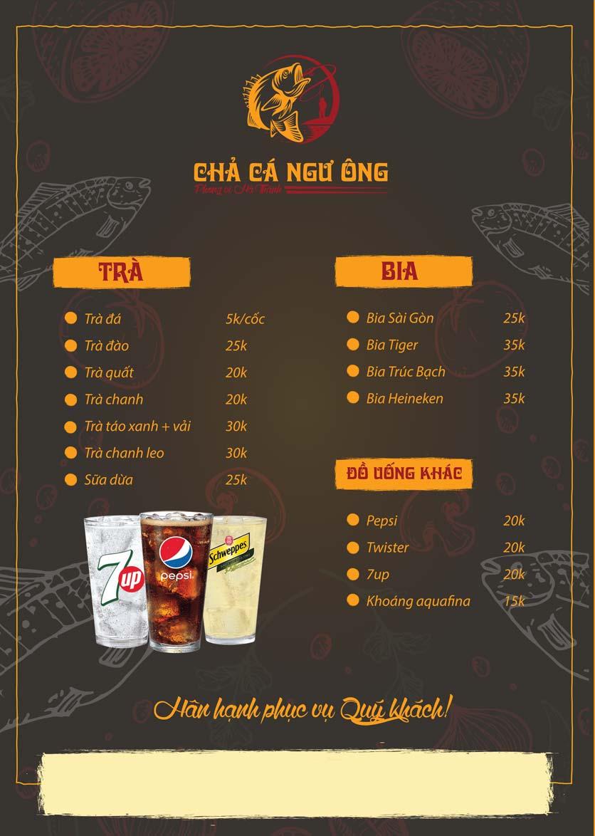 Menu Chả Cá Ngư Ông - Phạm Văn Đồng 3