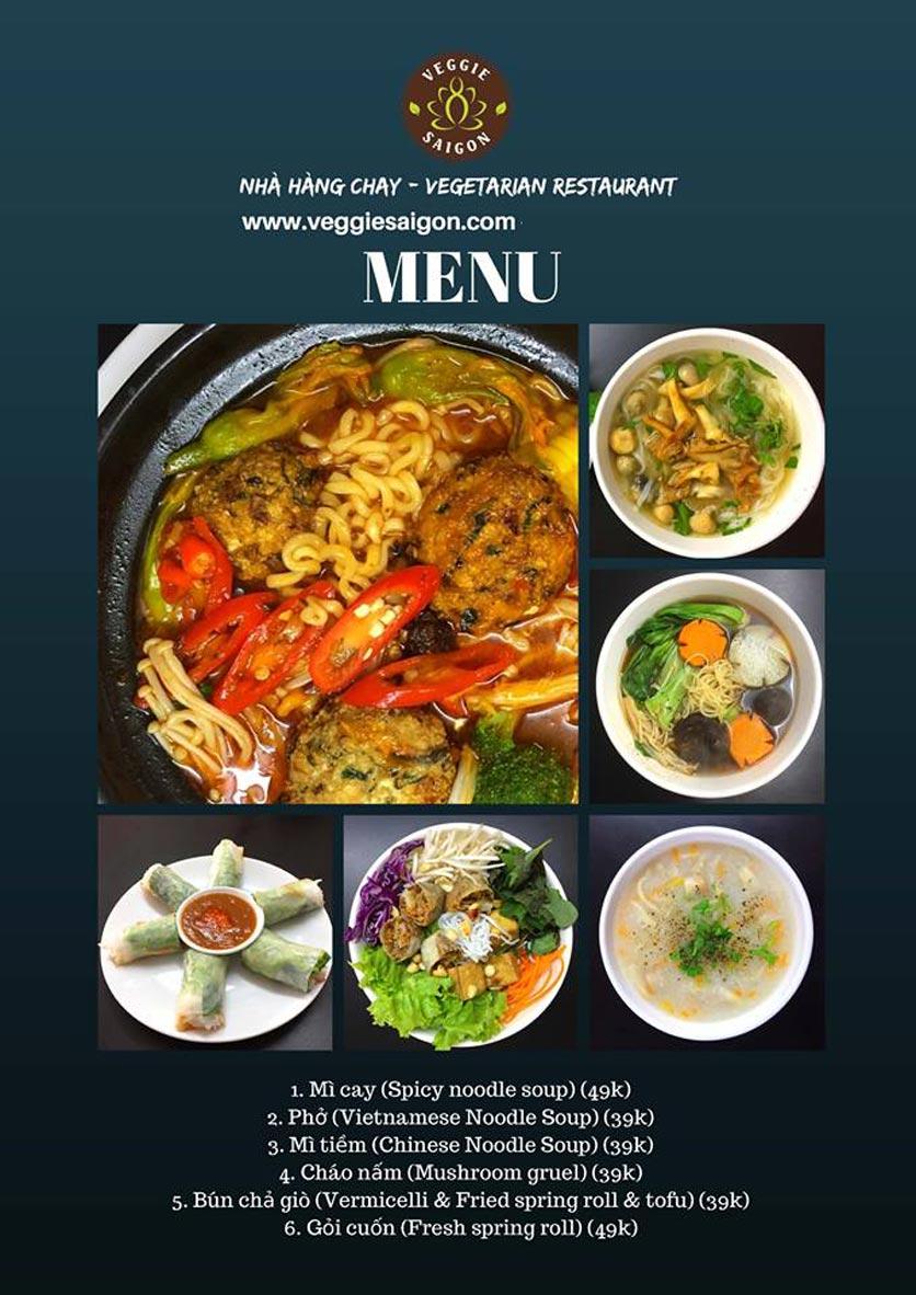 Menu Chay Veggie Saigon – Đề Thám 1