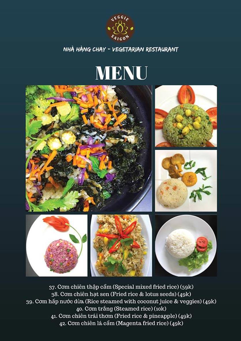 Menu Chay Veggie Saigon – Đề Thám 7