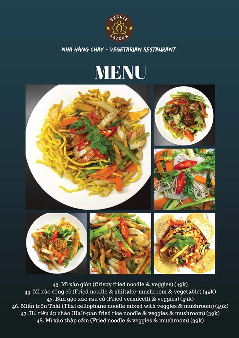 Menu Chay Veggie Saigon – Đề Thám 8