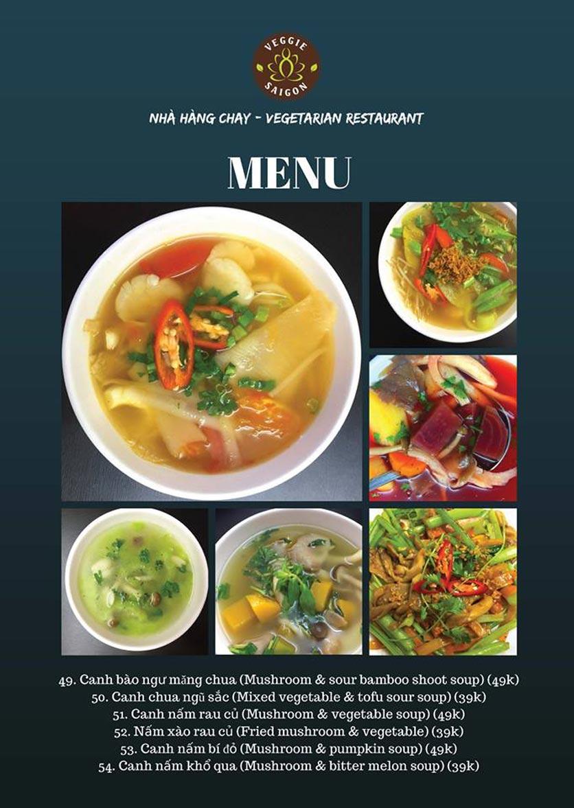 Menu Chay Veggie Saigon – Đề Thám 9