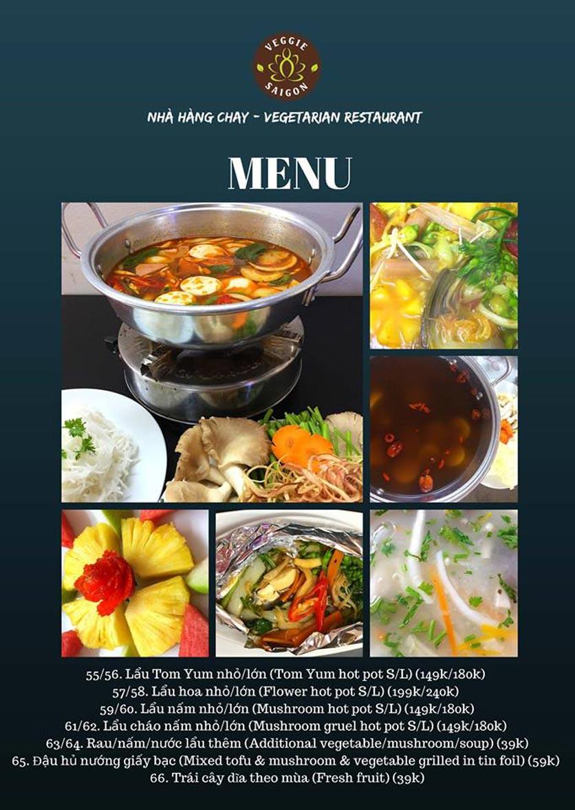 Menu Chay Veggie Saigon – Đề Thám 10