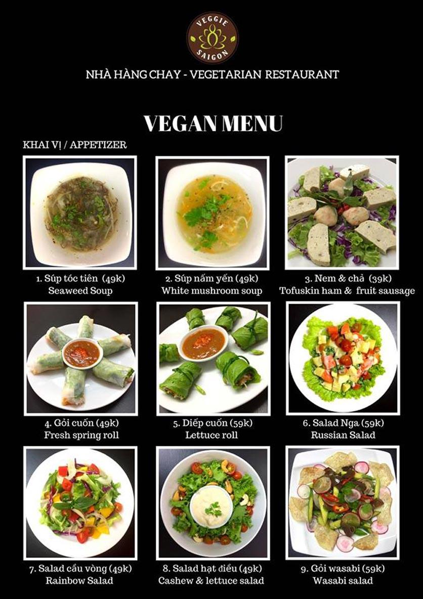Menu Chay Veggie Saigon – Đề Thám 13