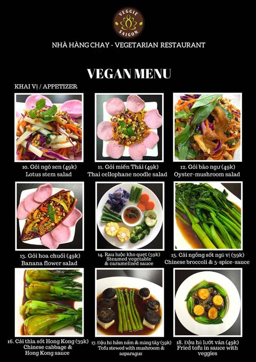 Menu Chay Veggie Saigon – Đề Thám 14