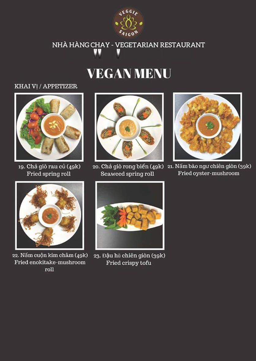 Menu Chay Veggie Saigon – Đề Thám 15