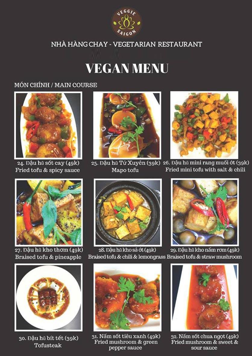 Menu Chay Veggie Saigon – Đề Thám 16