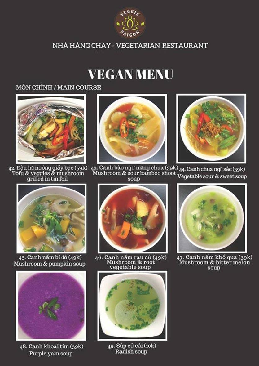 Menu Chay Veggie Saigon – Đề Thám 18