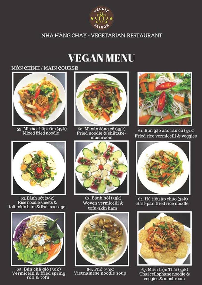 Menu Chay Veggie Saigon – Đề Thám 20
