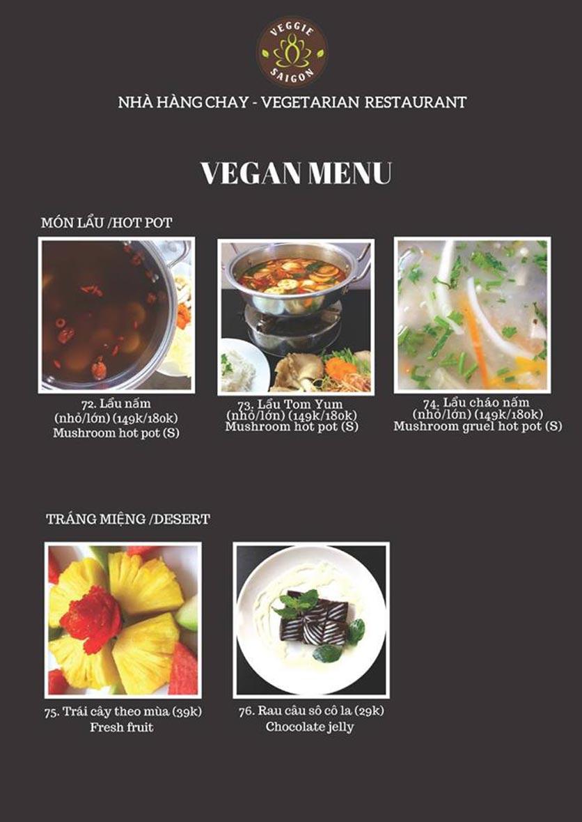Menu Chay Veggie Saigon – Đề Thám 22