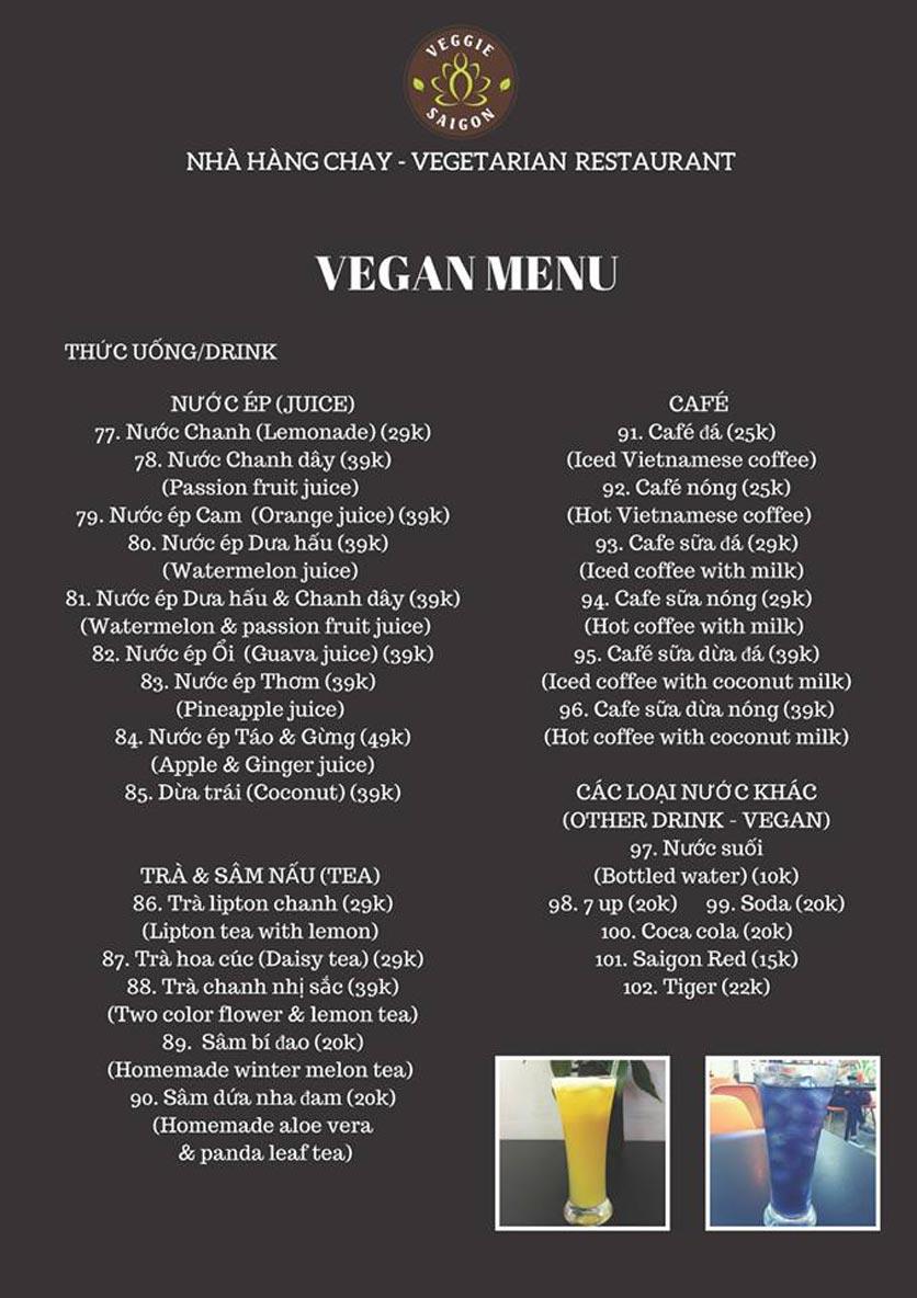 Menu Chay Veggie Saigon – Đề Thám 23