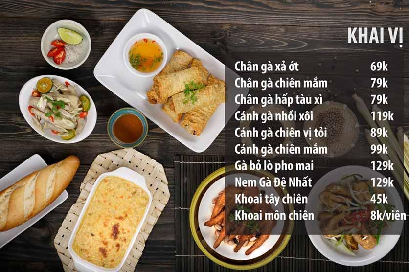 Menu Chicken One - Cơm Gà Đệ Nhất 2