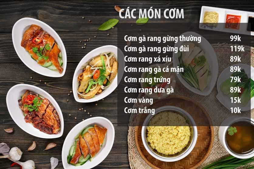 Menu Chicken One - Cơm Gà Đệ Nhất 4