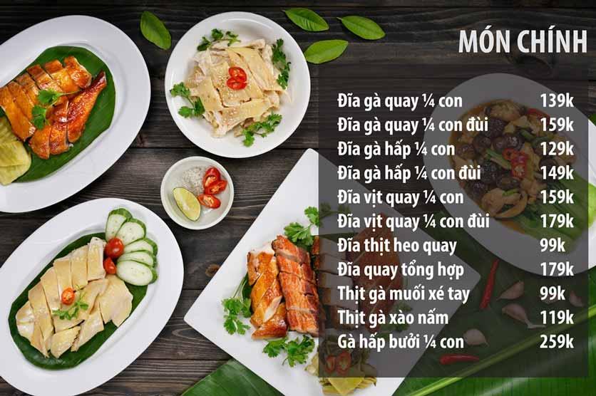 Menu Chicken One - Cơm Gà Đệ Nhất 5