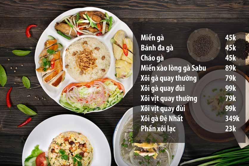 Menu Chicken One - Cơm Gà Đệ Nhất 6
