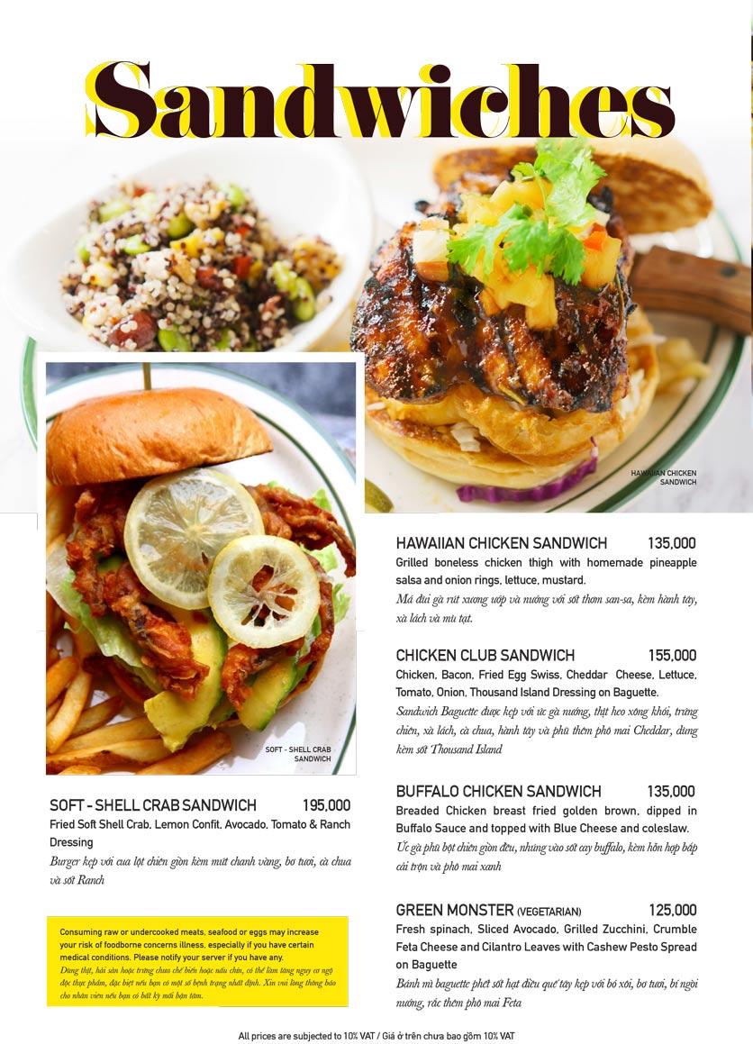 Menu The Diner V - Nguyễn Đình Chiểu 12