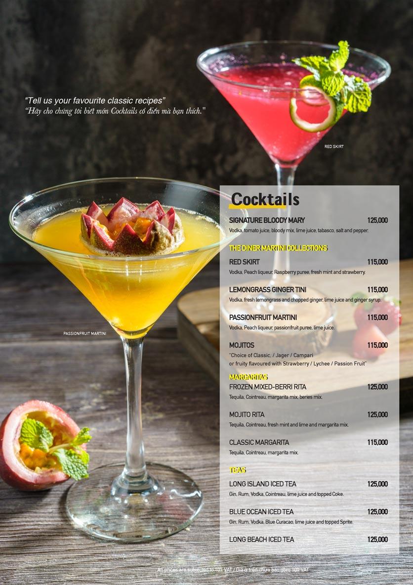 Menu The Diner V - Nguyễn Đình Chiểu 22