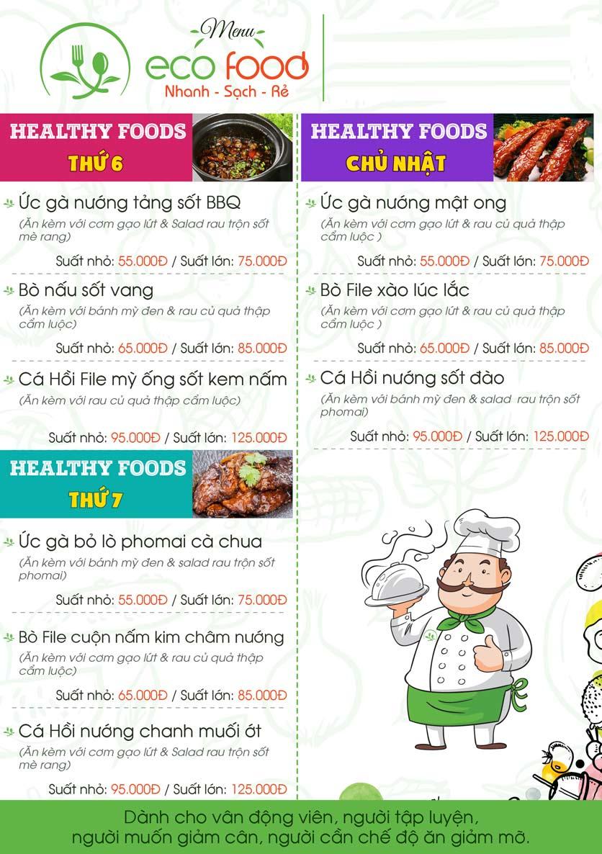 Menu Ecofood - Ngoại Giao Đoàn 3