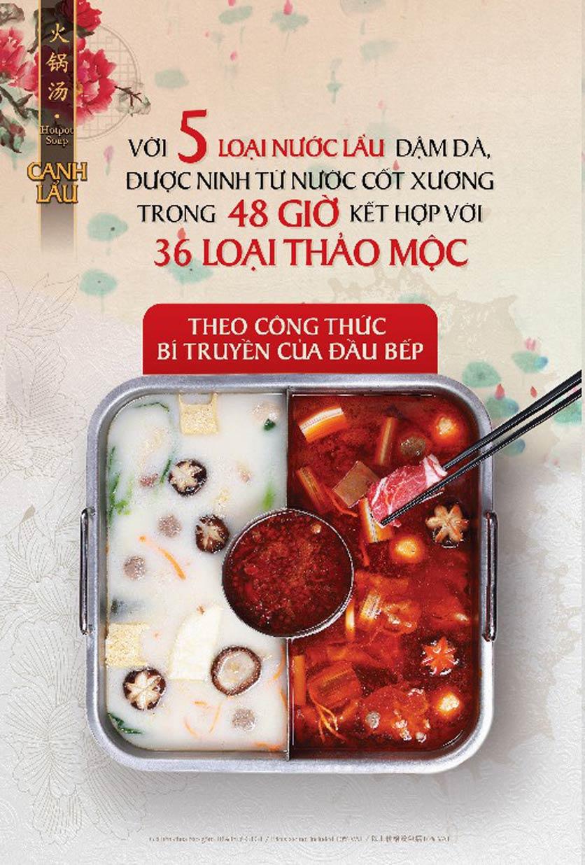 Menu Hutong - Vincom Phạm Ngọc Thạch 3