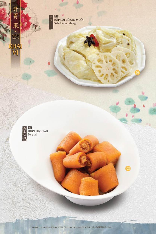 Menu Hutong - Vincom Phạm Ngọc Thạch 5