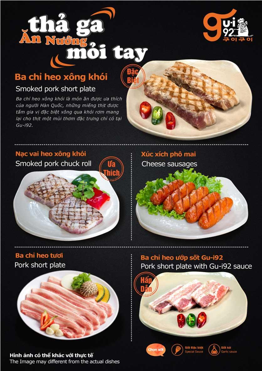 Menu Gu-i92 BBQ - Trần Hưng Đạo 4