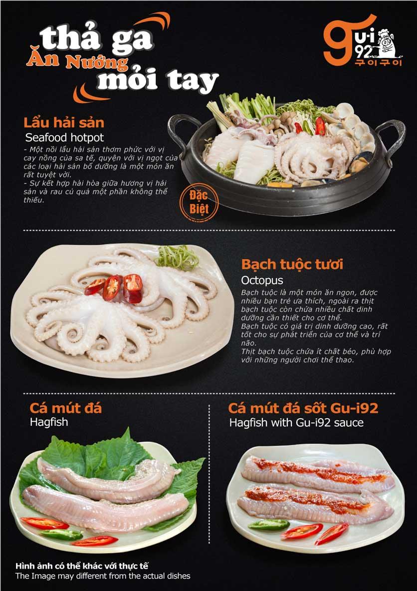 Menu Gu-i92 BBQ - Trần Hưng Đạo 17