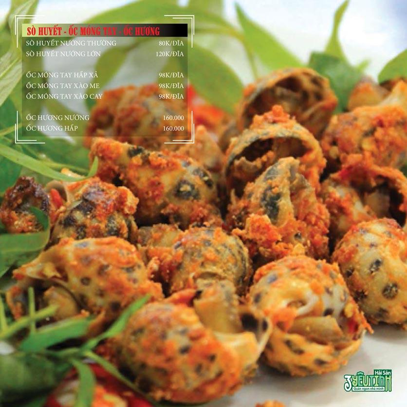 Menu Hải Sản 3 Yêu Tinh - Trần Quang Diệu 6