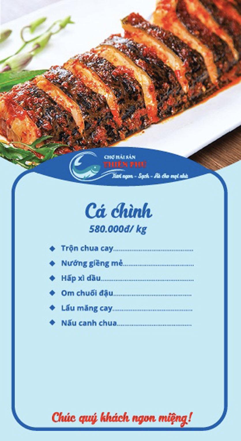 Menu Chợ Hải Sản Thiên Phú - KĐT Văn Phú 3