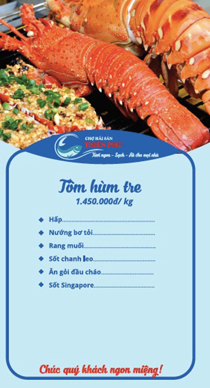 Menu Chợ Hải Sản Thiên Phú - KĐT Văn Phú 6