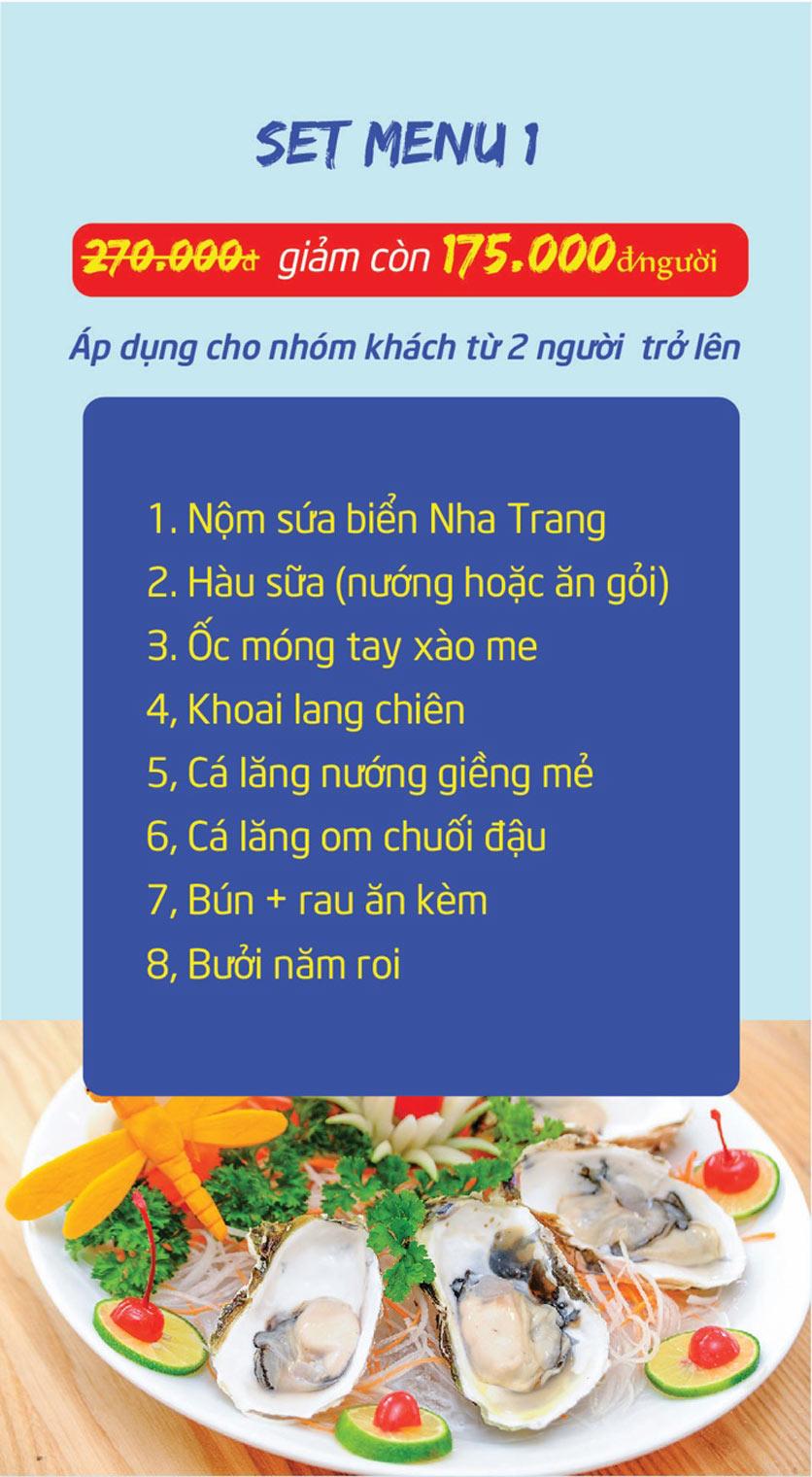 Menu Chợ Hải Sản Thiên Phú - KĐT Văn Phú 8