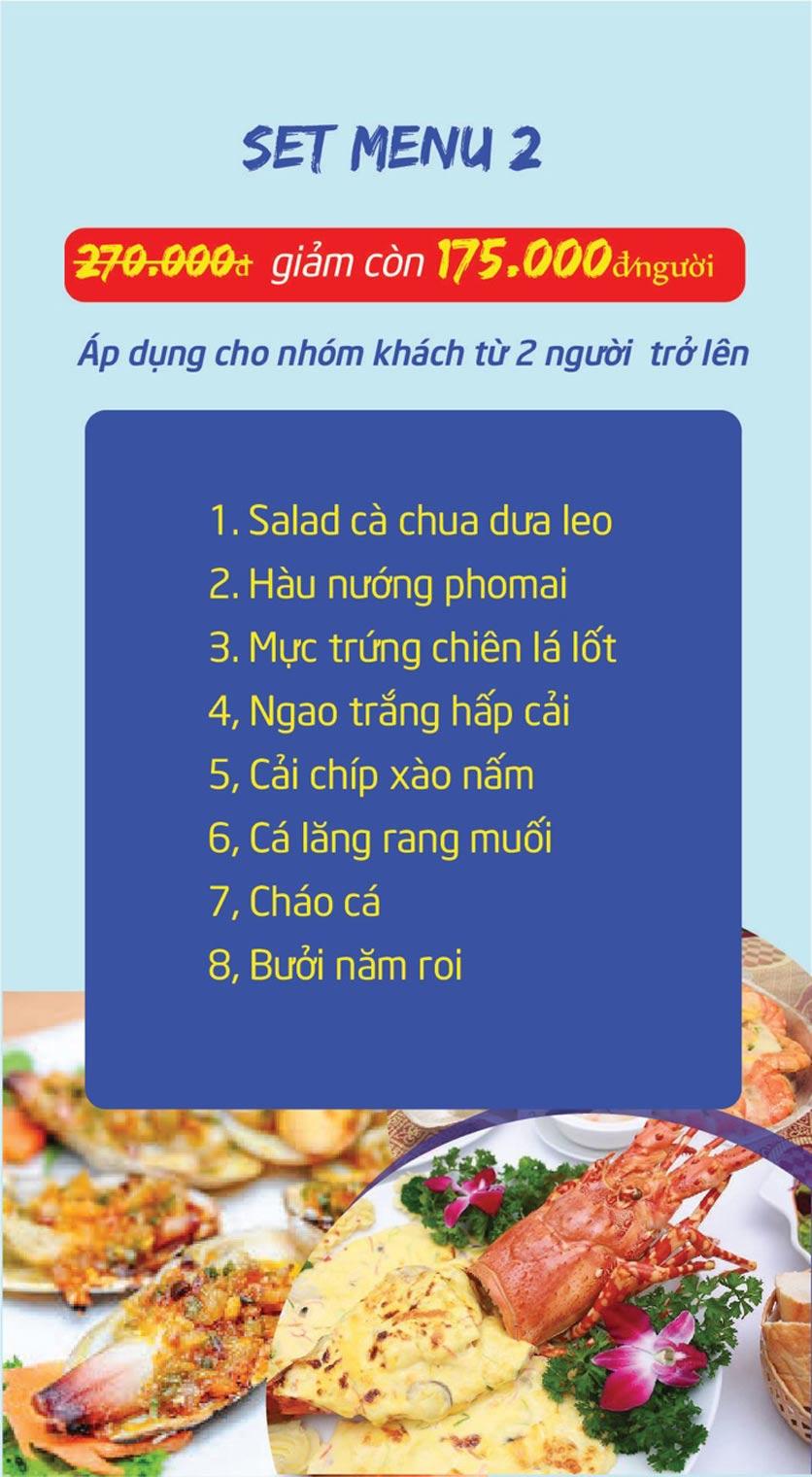 Menu Chợ Hải Sản Thiên Phú - KĐT Văn Phú 9