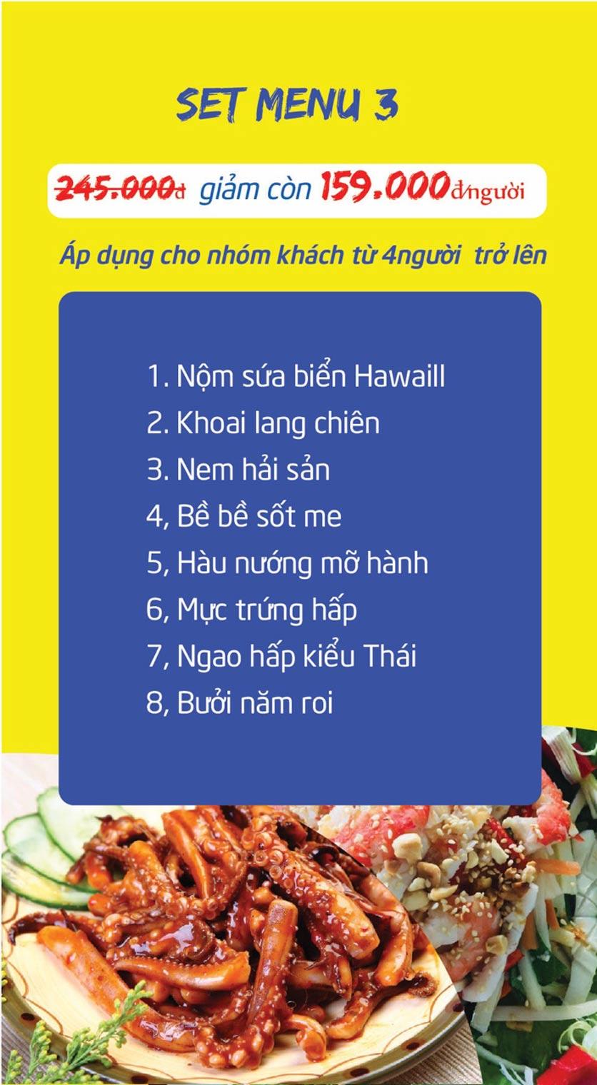 Menu Chợ Hải Sản Thiên Phú - KĐT Văn Phú 10