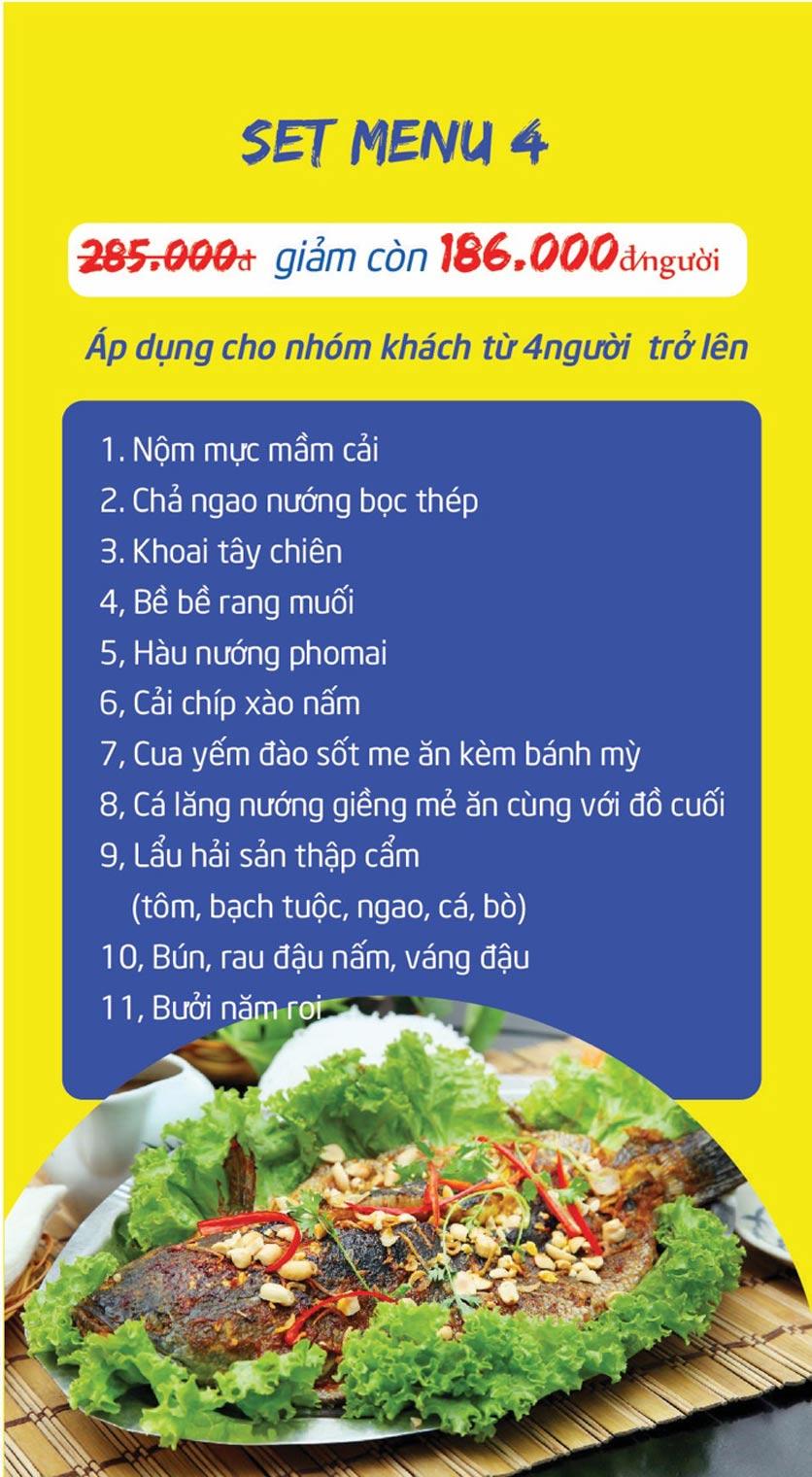 Menu Chợ Hải Sản Thiên Phú - KĐT Văn Phú 11