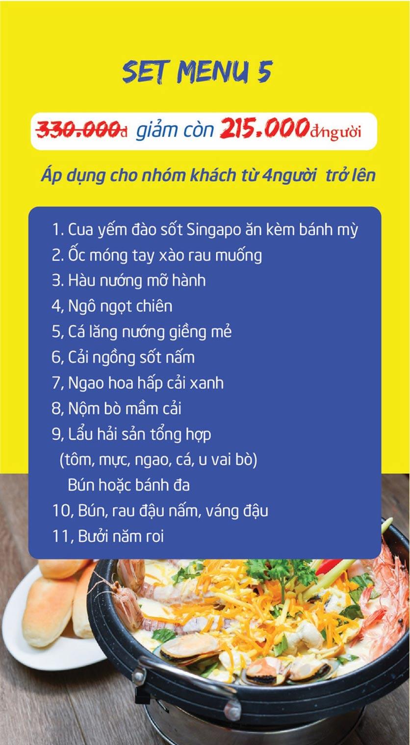 Menu Chợ Hải Sản Thiên Phú - KĐT Văn Phú 12