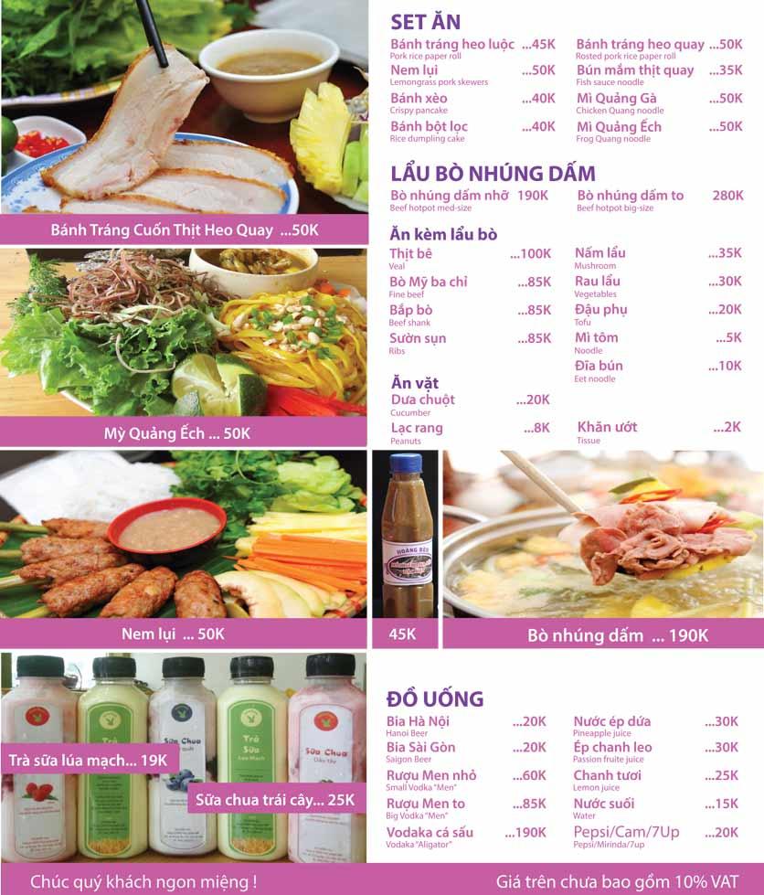 Menu Bánh Tráng Thịt Heo Hoàng Bèo - Nguyễn Trãi 1