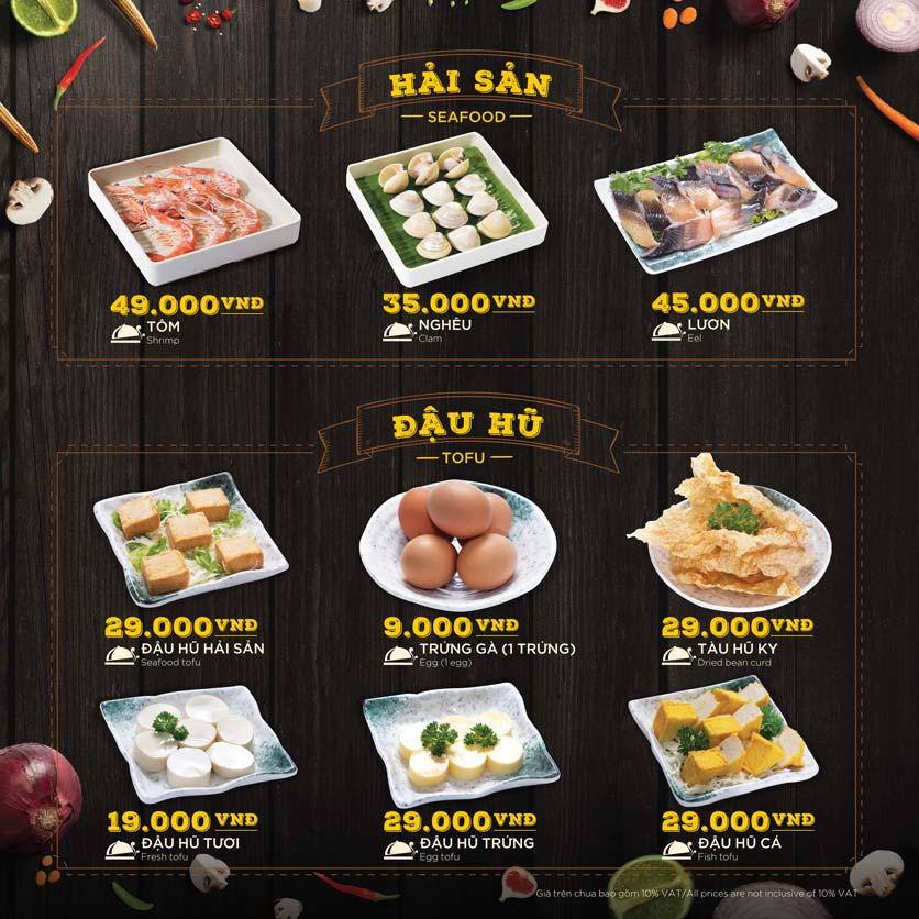 Menu Hoàng Yến Hotpot - Phú Mỹ Hưng 38