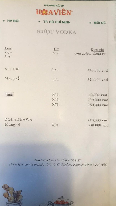 Menu Hoa Viên Brauhaus - Tăng Bạt Hổ 22