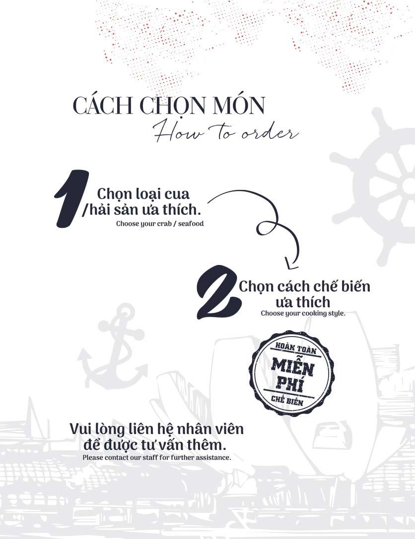 Menu Holy Crab – Phan Xích Long  8