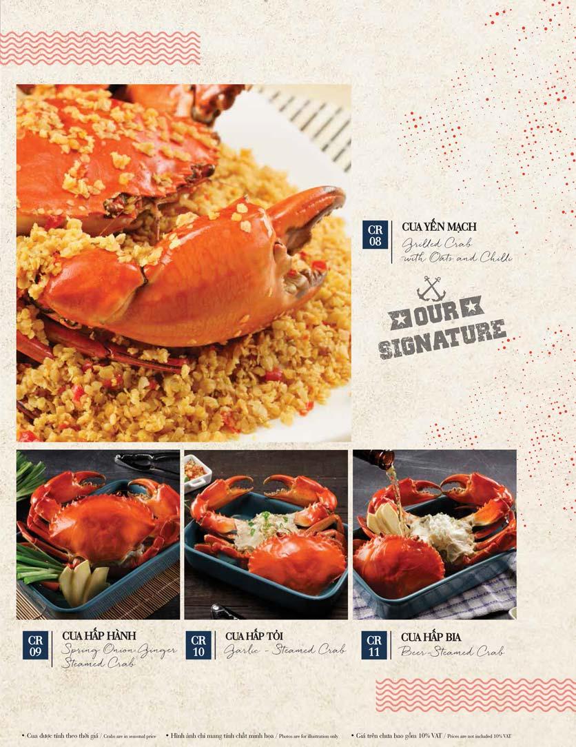 Menu Holy Crab – Vincom Metropolis Liễu Giai  11