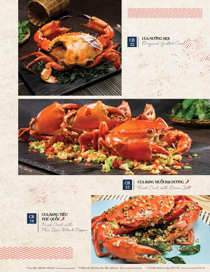 Menu Holy Crab – Vincom Metropolis Liễu Giai  12