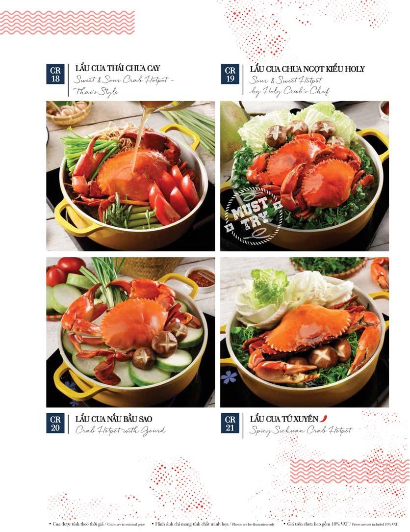 Menu Holy Crab – Vincom Metropolis Liễu Giai  14