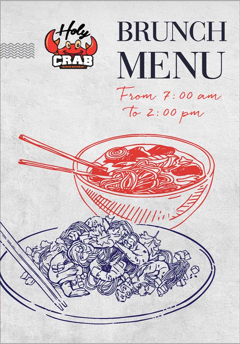 Menu Holy Crab – Phan Xích Long  1