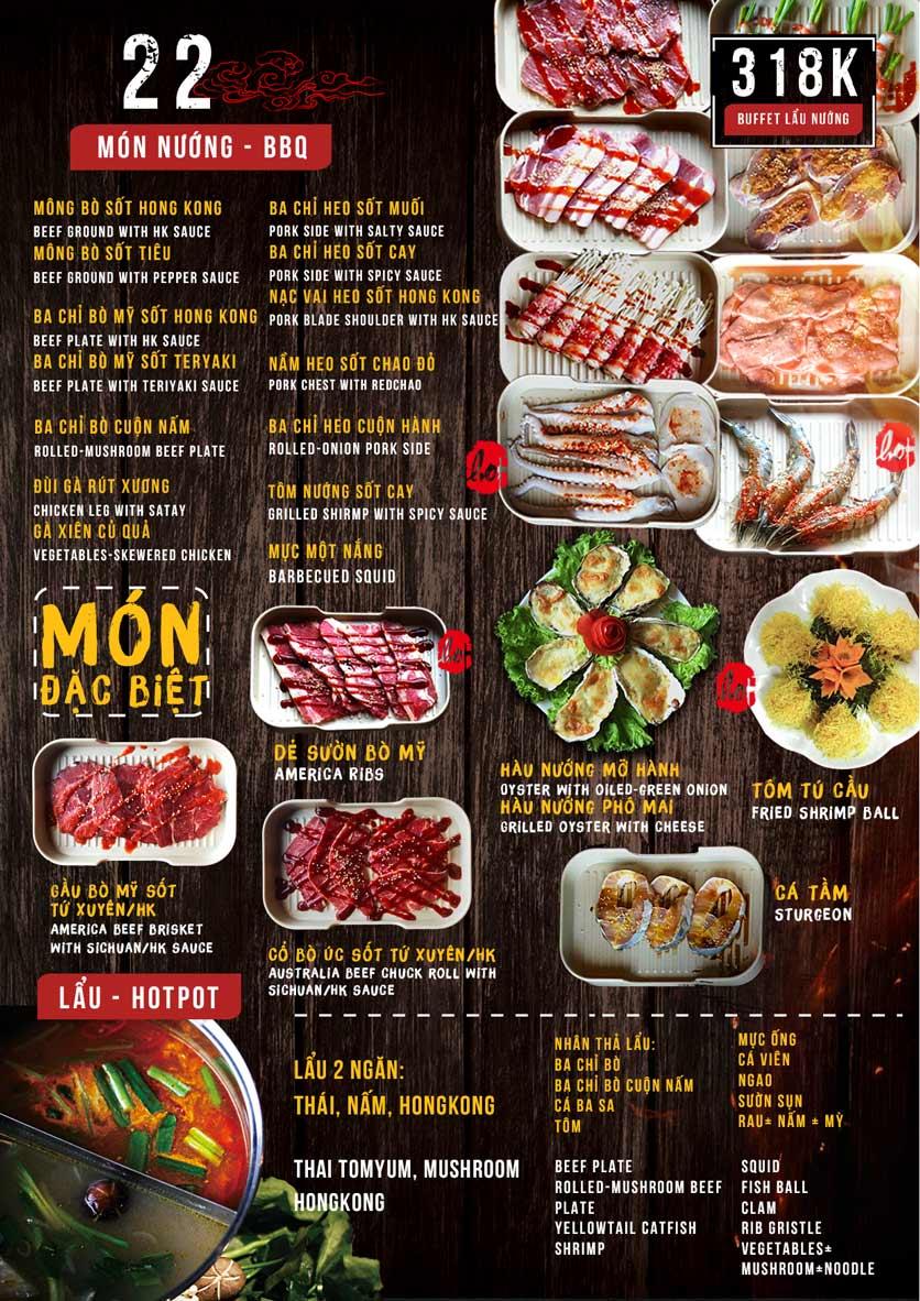 Menu HongKong New Buffet BBQ & Hotpot - 302 Cầu Giấy 3