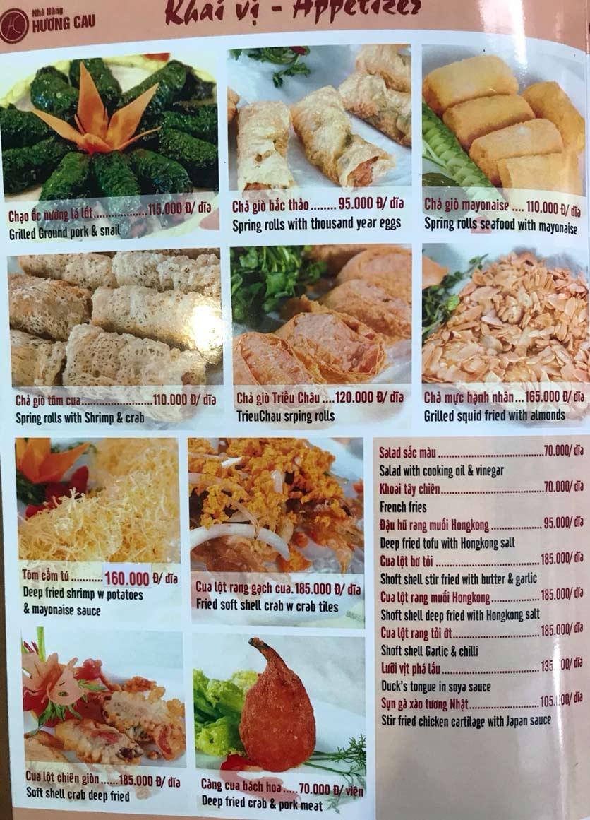 Menu Hương Cau 2 - Tân Canh 2